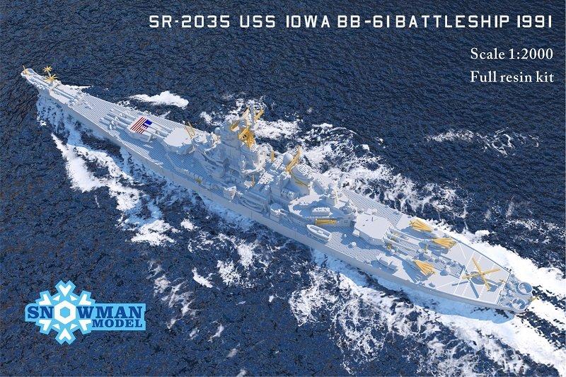 1/2000 アメリカ海軍 BB-61 戦艦アイオワ(1991年時)