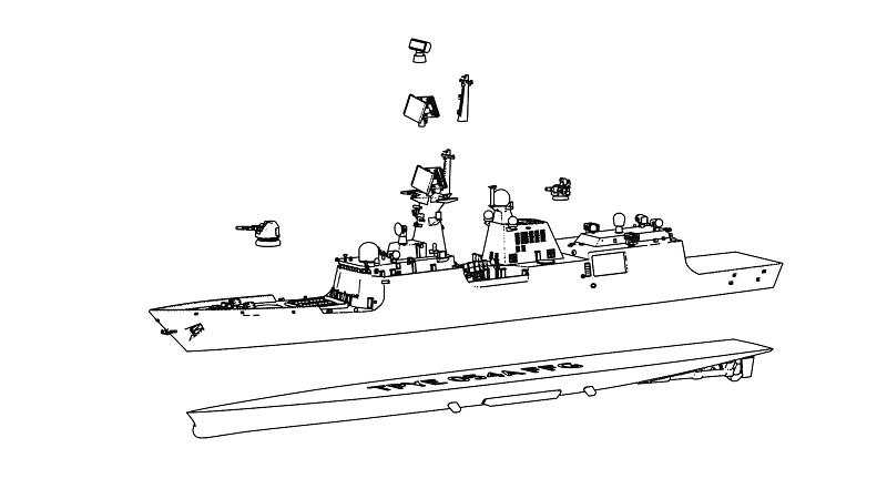 1/2000 人民解放海軍 054A型フリゲート