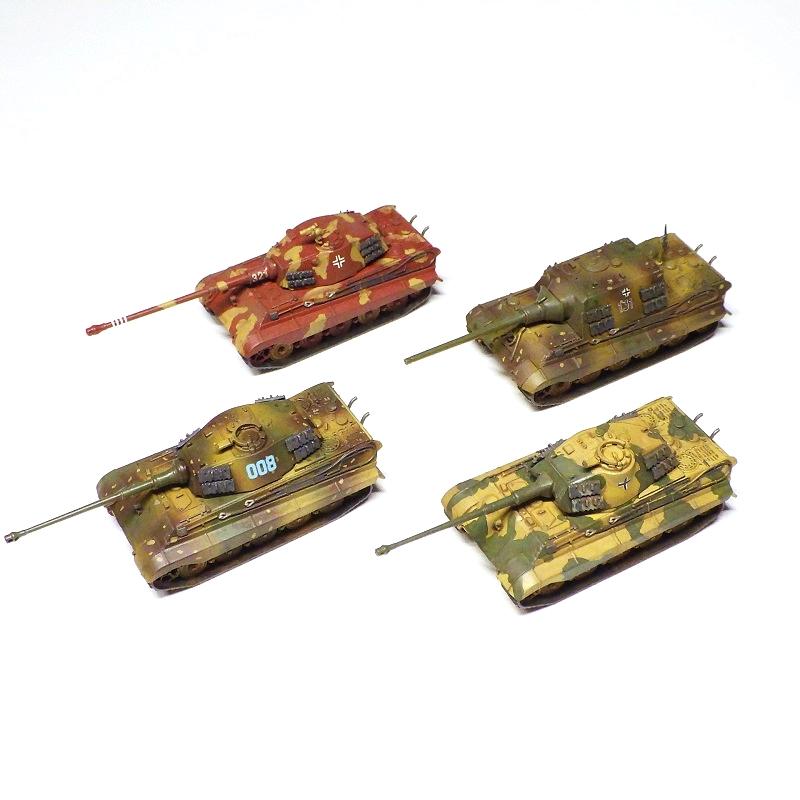 U-Star製キングティーガーシリーズ4種セット(88mm砲金属砲身付きスペシャル版)