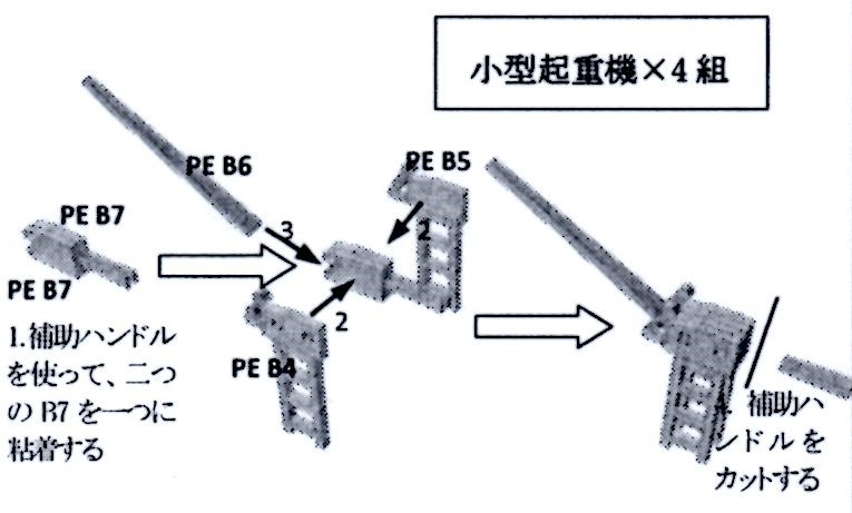 1/2000 鋼矢板+小型起重機セット