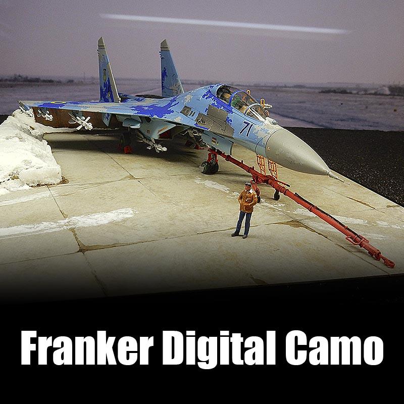1/144 Su-27UB フランカーデジタル迷彩デカール