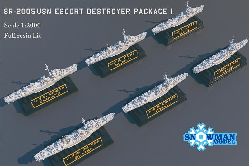 1/2000 アメリカ海軍 護衛駆逐艦セット1(6隻入り)