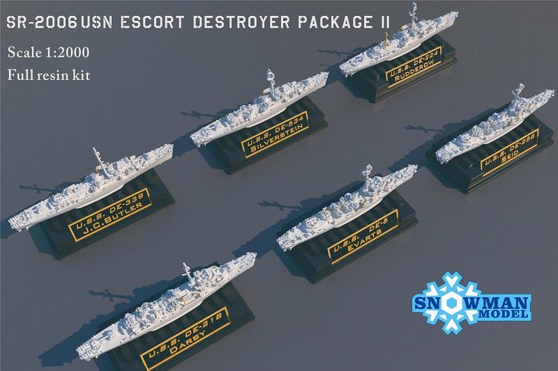 1/2000 アメリカ海軍 護衛駆逐艦セット2(6隻入り)