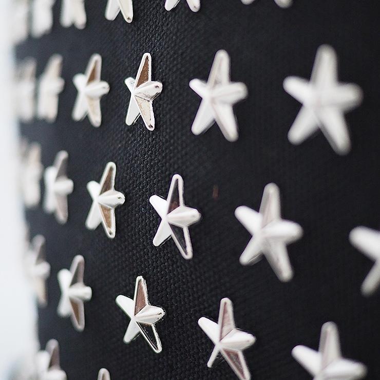 『ライトウェイト モデル』 星スタッズトートバッグ【Sサイズ】 BLACK×SILVER 星スタッズ