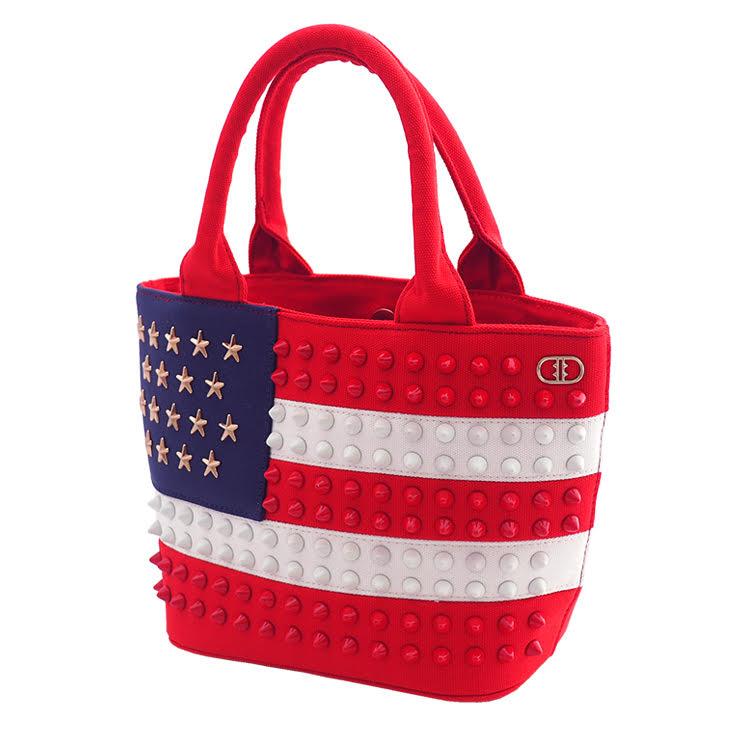 USA スタッズトートバッグ【Sサイズ】 RED