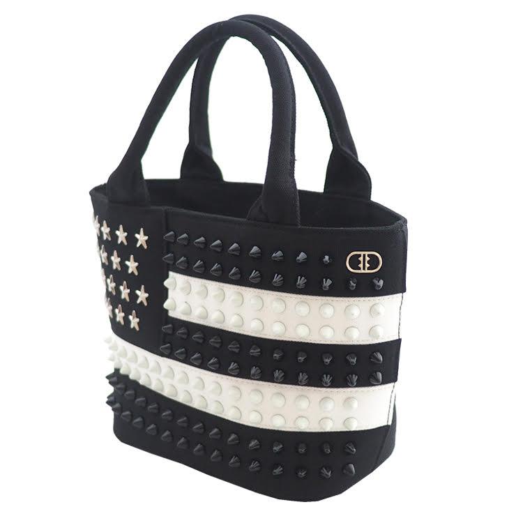USA スタッズトートバッグ【Sサイズ】 BLACK