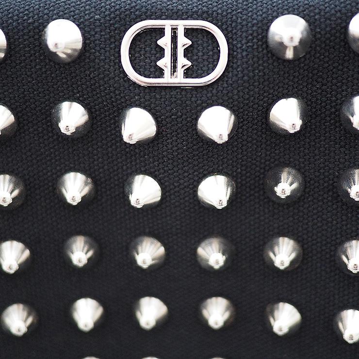 『ライトウェイト モデル』 スタッズトートバッグ 【Sサイズ】 BLACK×SILVER とげとげSTUDS