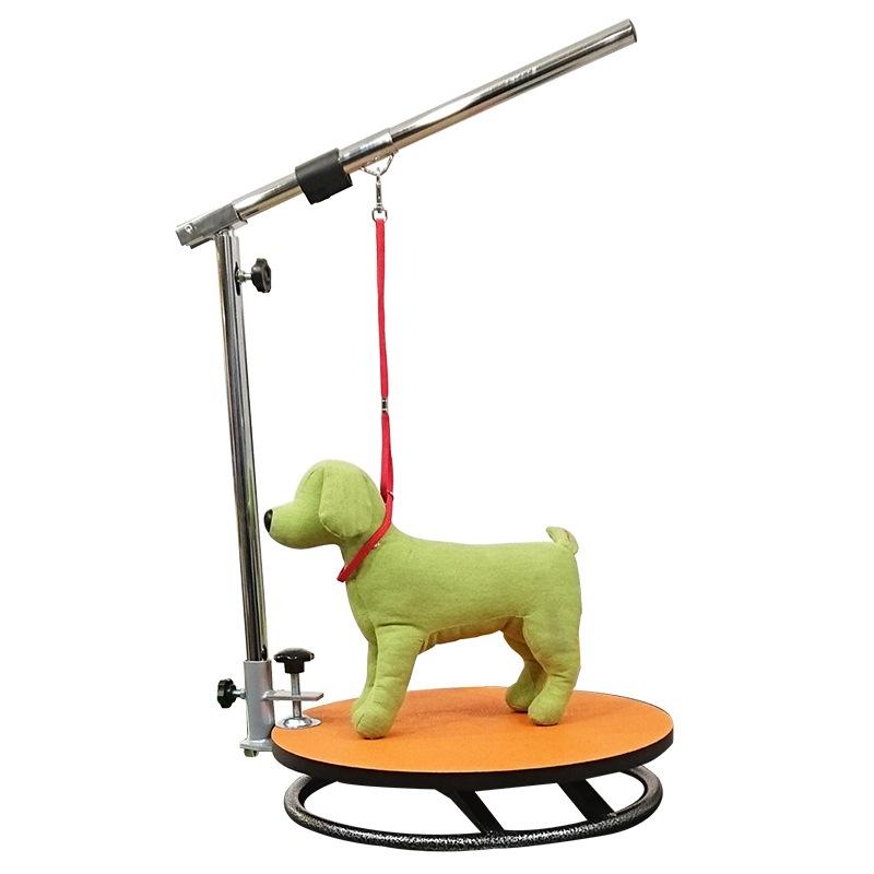 トリミング台 回転式テーブル(アーム・リード紐付き) ターンテーブル 折りたたみ 持ち運び ペット用 業務用 犬用