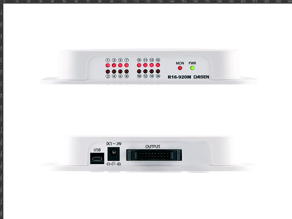 16点オープンコレクタ出力920MHz帯無線受信機