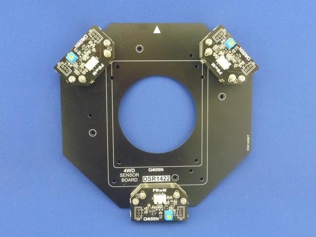 反射型パルスセンサー用 4WDセンサーボード