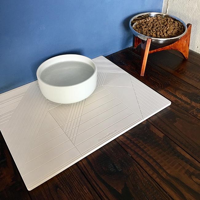 【ORIGINAL 珪藻土水置き】猫用水置きマット / Waterbowl station Flat