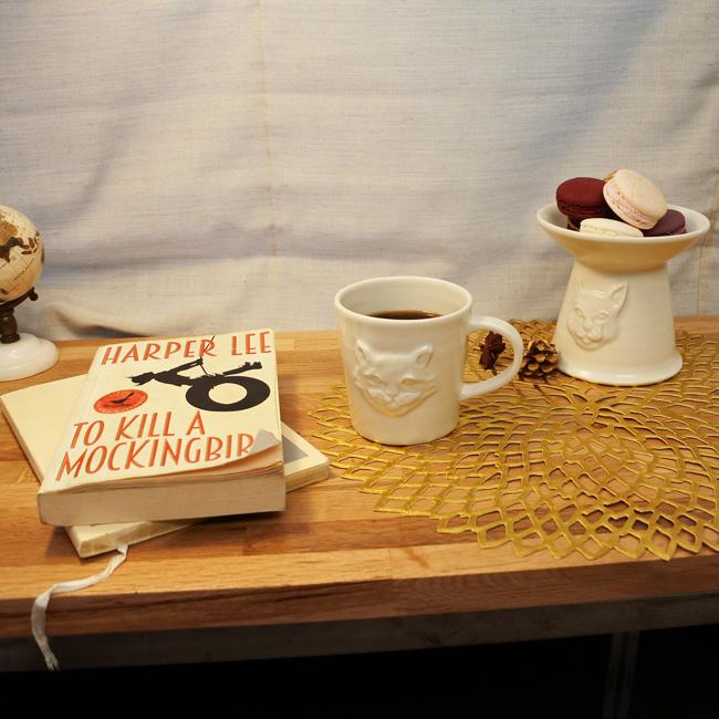 【ORIGINAL】Furbaby FOOD BOWL/半磁器製脚付フードボウル