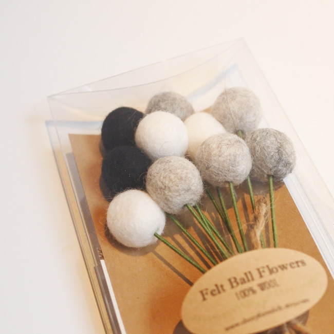 Pom Pom Flowers-SheepFarmFelt/ポンポンフラワー