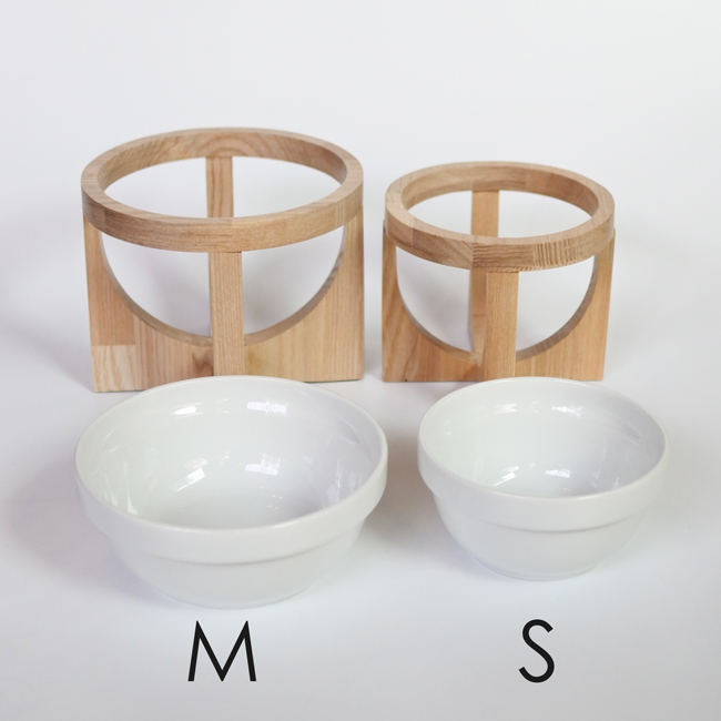【ORIGINAL】FOODBOWL STAND #008-M /陶磁器フードボウルスタンド (made in Japan)