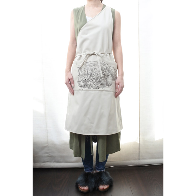 【ORIGINAL】Furbaby embroidery Apron/猫刺繍エプロン