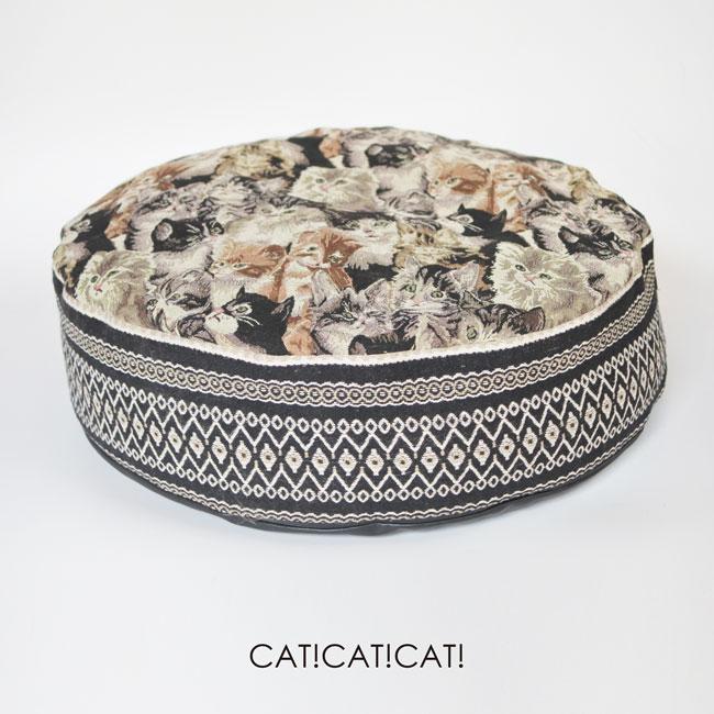 【ORIGINAL】JACQUARD ROUND CUSHION BED