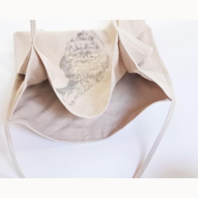 【ORIGINAL】Furbaby embroidery Ramie-Tote/猫刺繍ラミートートバッグ