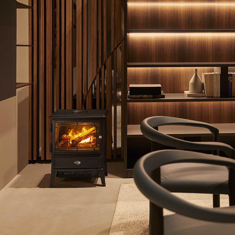 電気暖炉 オプティミストシリーズ Glasgow グラスゴー ブラック
