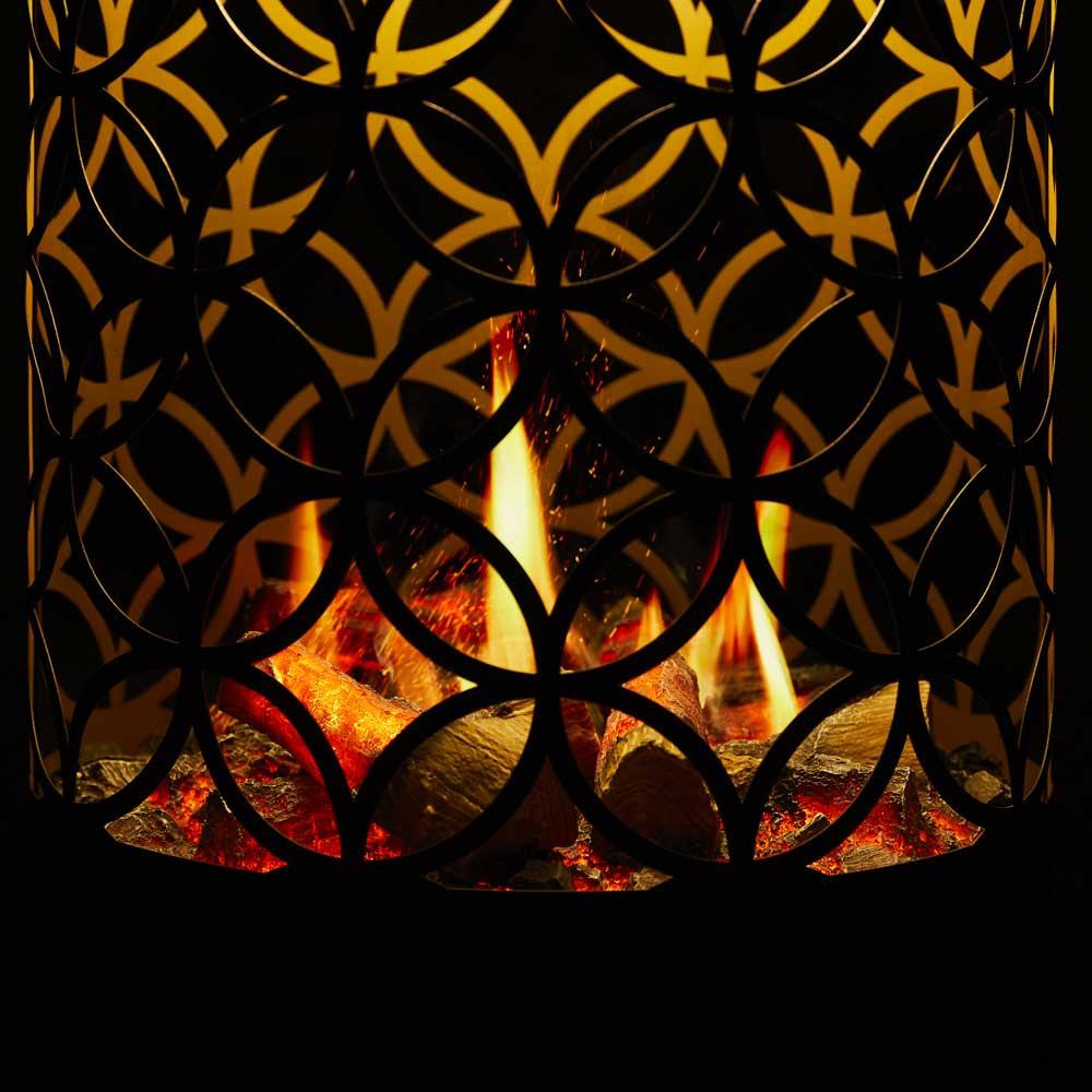 【数量限定アウトレット再お値下げ】電気暖炉 セリーニ フラワーオブライフ