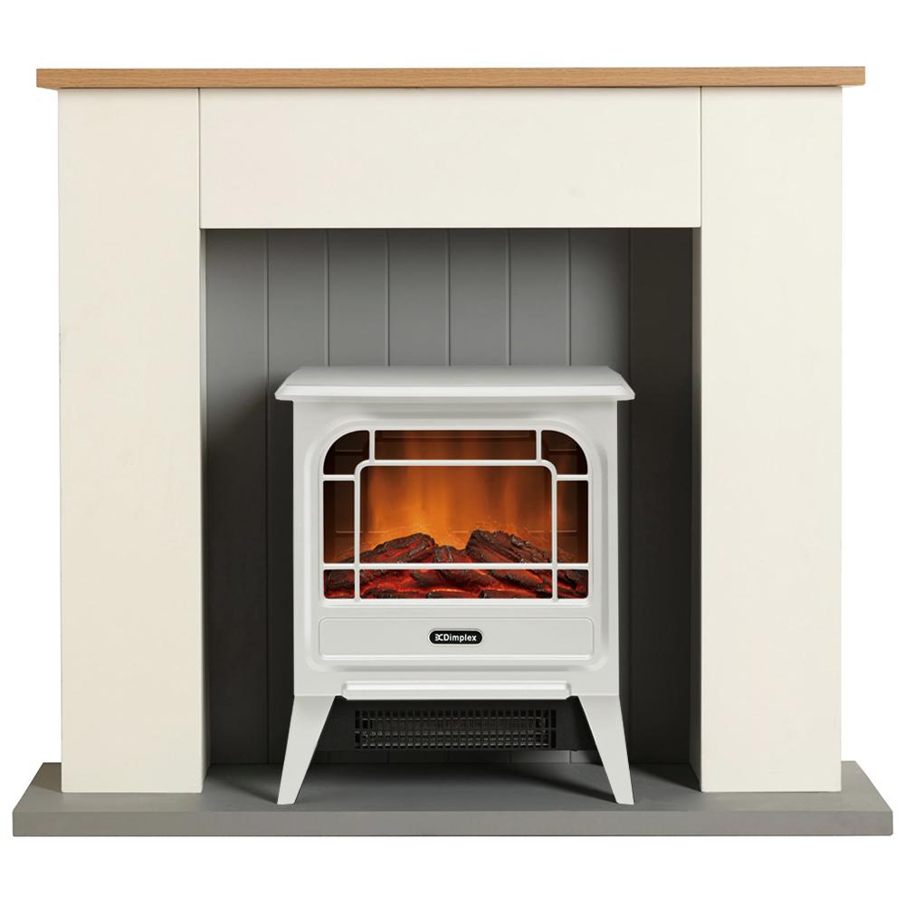 家具付き電気暖炉 ホワイト