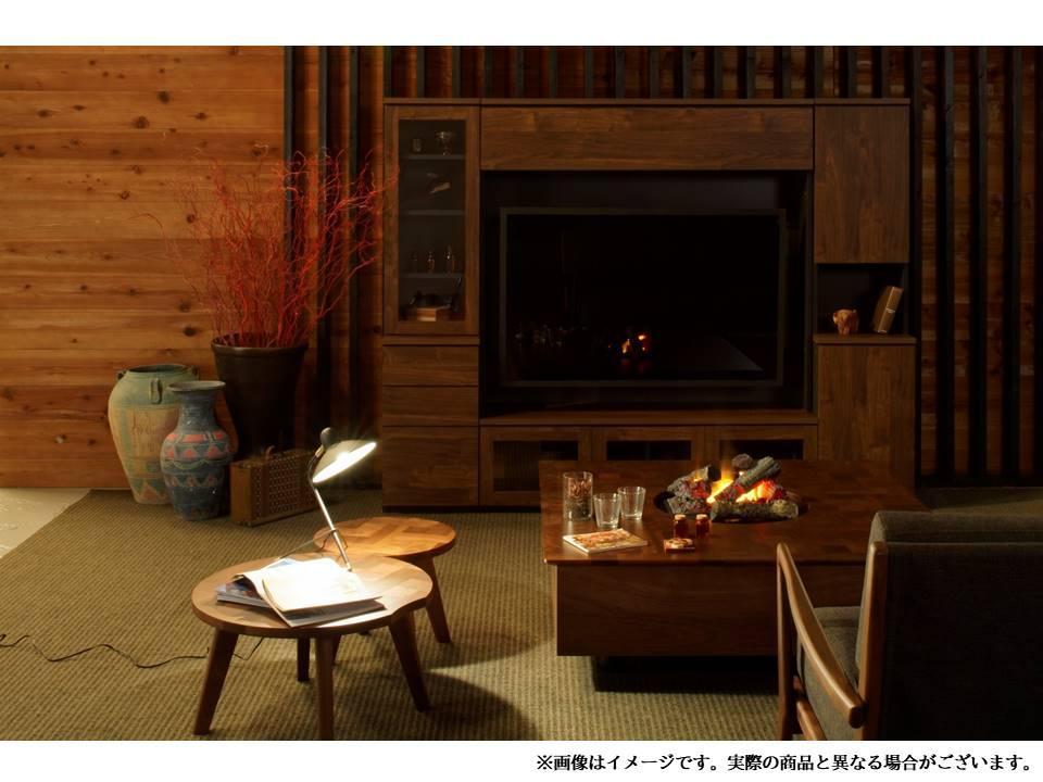 電気暖炉ウォールナット グランテーブル1204