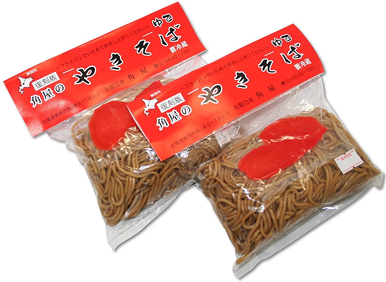復刻版!そのままで食べられる 北海道美唄市名物グルメ。 袋入り焼きそば(ソース味×8袋)