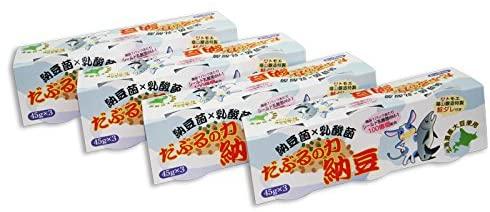 室蘭市の内藤食品工業×トモエ×森永乳業コラボ商品!だぶるの力納豆(45g×3)4個セット