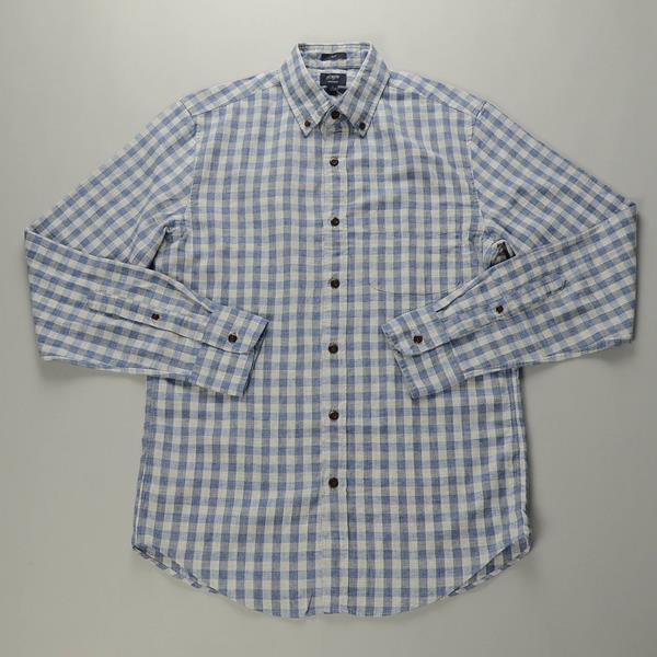 """【CLEARANCE SALE】J.CREW / ジェイクルー / ホームスパンボタンダウンシャツ""""SLIM FIT"""" / ヘザーブルーギンガム"""