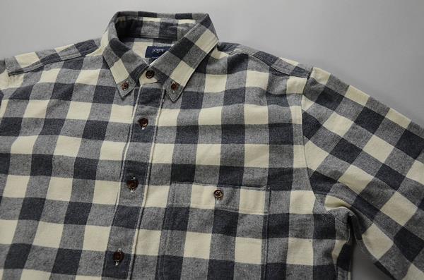 】J.CREW / ジェイクルー / ラギッドコットンエルボーパッチシャツ / ホワイト×グレー