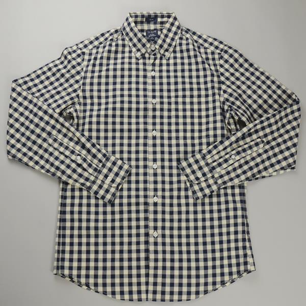 """【CLEARANCE SALE】J.CREW / ジェイクルー / FLEX ボタンダウンシャツ""""SLIM FIT"""" / ネイビーミディアムギンガム"""