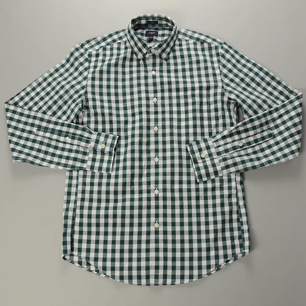 """】J.CREW / ジェイクルー / NEWウォッシュドボタンダウンシャツ""""SLIM FIT"""" / グリーンホワイトミディアムギンガム"""