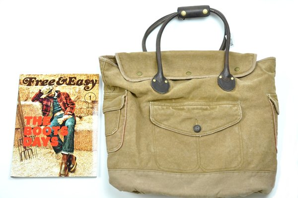 Rugby Ralph Lauren / Canvas and Leather Tote / Khaki ラグビー ラルフローレン / キャンバスアンドレザートート / カーキ