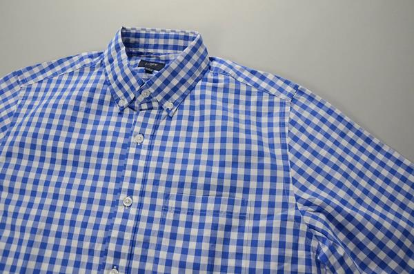 【スーパープライス】J.CREW / ジェイクルー / NEWウォッシュドボタンダウンシャツ / ブルーホワイトミディアムギンガム