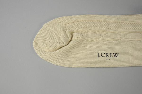 J.CREW / ジェイクルー / オリジナルケーブルソックス / ナチュラルネイビーストライプ