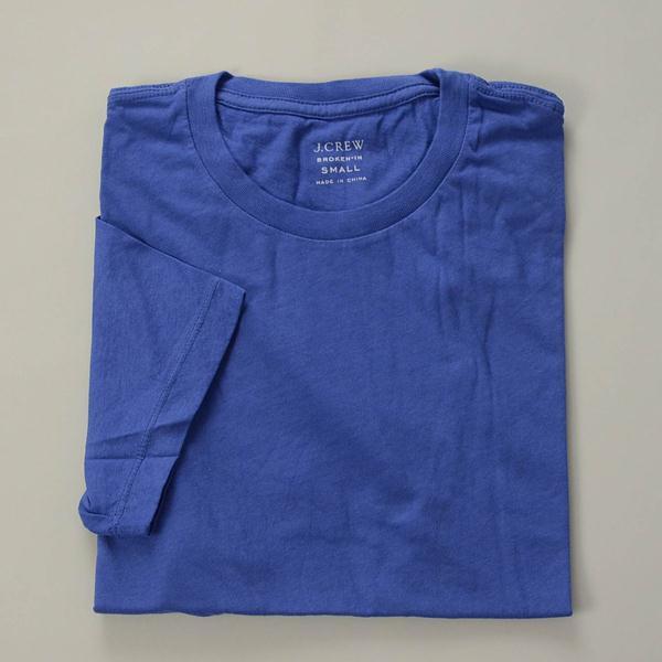 【FINAL SUMMER SALE】J.CREW / ジェイクルー / ブロークンインクルーネックTシャツ / ビンテージコバルト