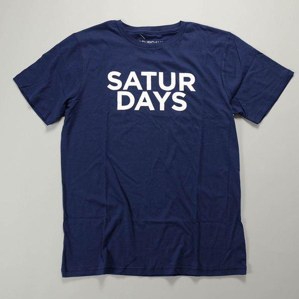 SATURDAYS SURF NYC / サタデーズサーフ ニューヨーク / Saturdays ハーフタイプTシャツ / ネイビー
