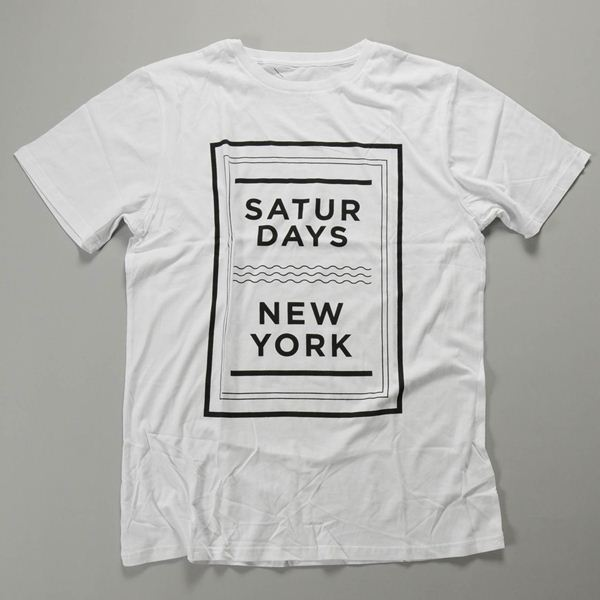 SATURDAYS SURF NYC / サタデーズサーフ ニューヨーク / SaturdaysニューヨークウェーブスTシャツ / ホワイト