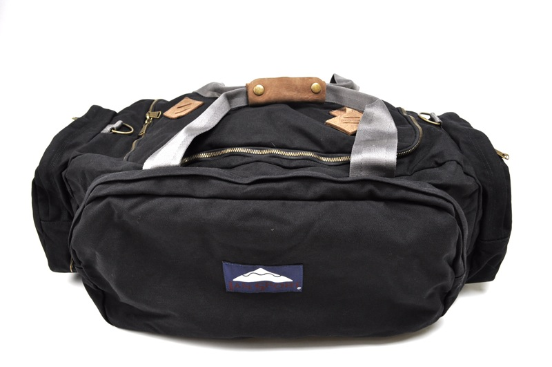 JANSPORT HERITAGE / Duffle Bag / Black×Brown Leather ジャンスポーツへリテージ / ダッフルバッグ / ブラック×ブラウンレザー