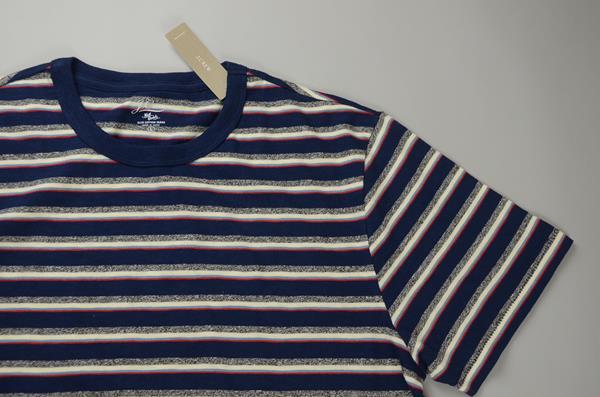 【CLEARANCE SALE】J.CREW / ジェイクルー / スラブコットン リグリーストライプTシャツ / ネイビーリグリーストライプ