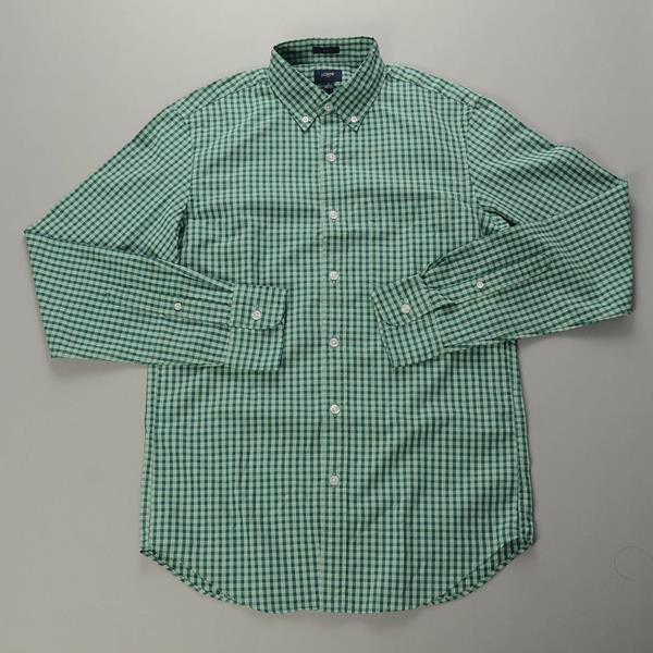 "】J.CREW / ジェイクルー / NEWウォッシュドボタンダウンシャツ""SLIM FIT"" / グリーンギンガム"