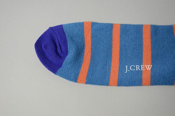 J.CREW / ジェイクルー / ナバルストライプソックス / ブルー×オレンジ×パープル
