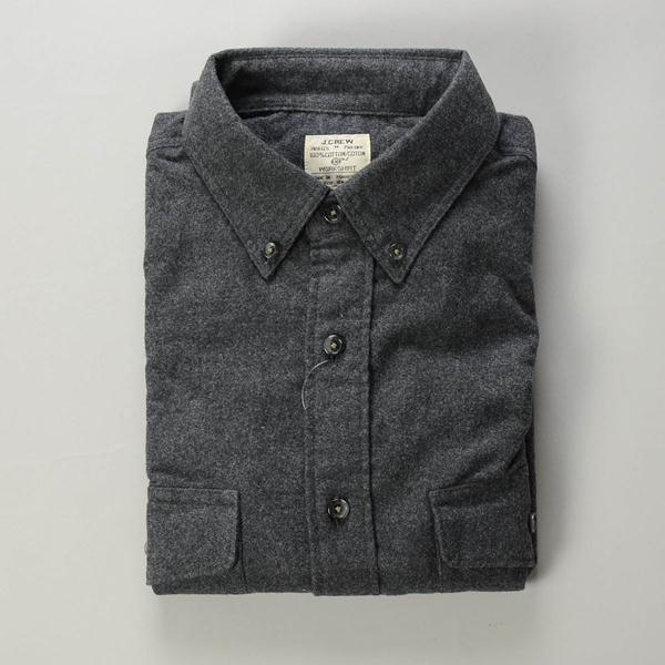】J.CREW / ジェイクルー / ヘザーシャモワワークシャツ / ヘザーチャコール