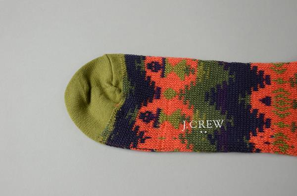 J.CREW / ジェイクルー / ネイティブソックス / グリーンオレンジネイティブ