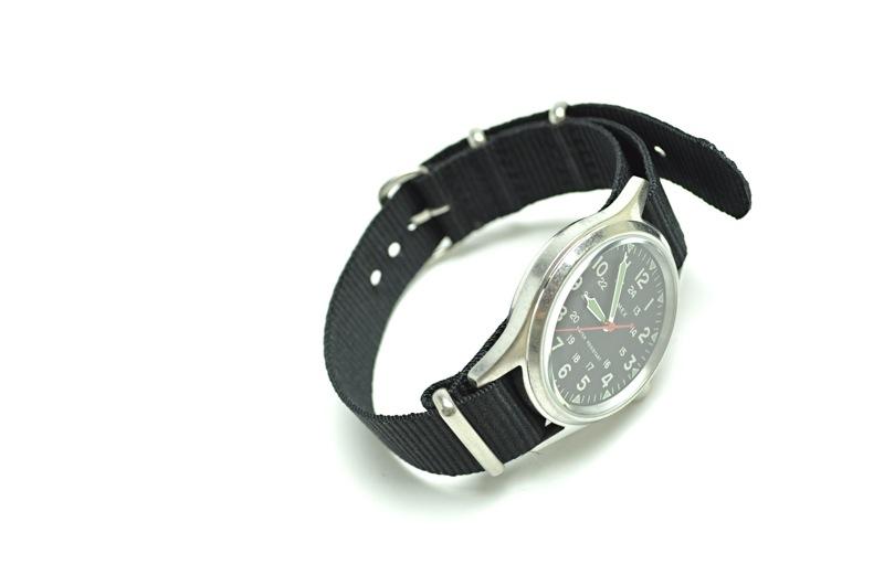 【期間限定SALE 12/6まで】J.CREW×TIMEX / Vintage Finished Black Face Military Watch / Black ジェイクルー×タイメックス / ビンテージフィニッシュドブラックフェイスミリタリーウォッチ / ブラック