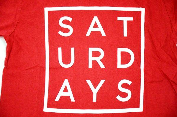 SATURDAYS SURF NYC / サタデーズサーフ ニューヨーク / サタデーズサーフ スクエア Tee / レッド