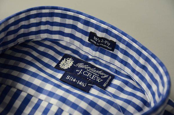 J.CREW / ジェイクルー / 2Plyコットンボタンダウンドレスシャツ / ジャクソンブルー ホワイト