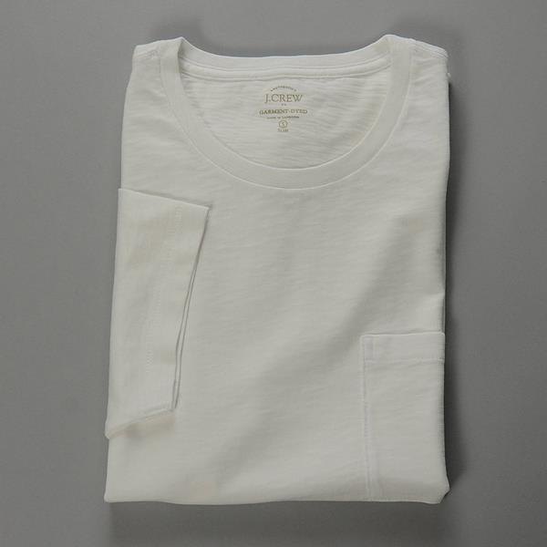 】J.CREW / ジェイクルー / サンウォッシュドガーメントダイTシャツ / ホワイト