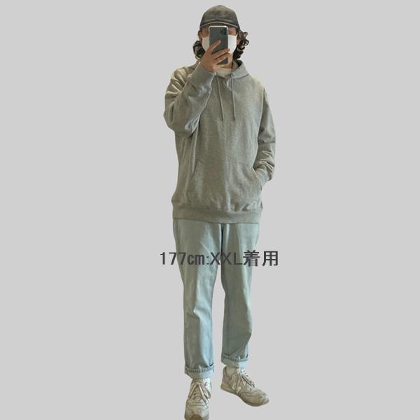 【BIG SIZE】J.CREW / ジェイクルー / ビンテージフリーススウェットフーディー / ヘザーグレー