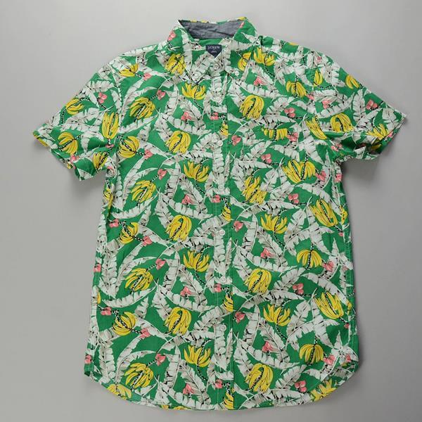 "【CLEARANCE SALE】J.CREW / ジェイクルー / NEWグラフィック SS B.Dシャツ""SLIM FIT"" / グリーンパパイヤ"