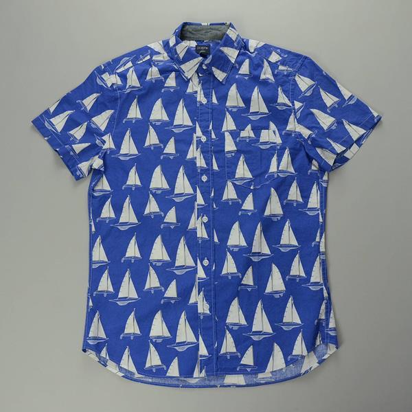 """J.CREW / ジェイクルー / NEWグラフィック SS B.Dシャツ""""SLIM FIT"""" / ブルーボート"""
